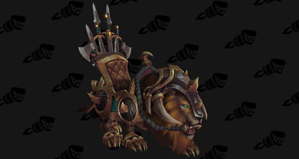 Lion de guerre vicieux monture WoW Legion
