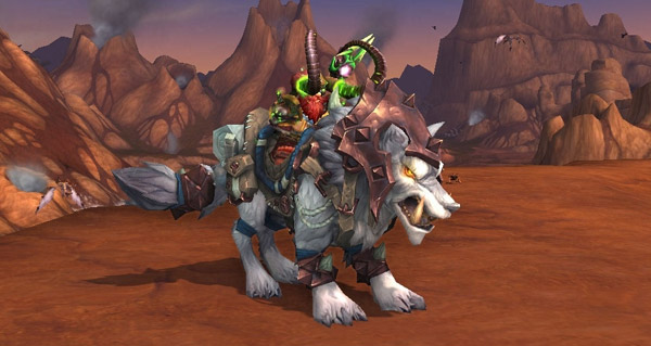 Loup de givre cuirassé - Monture World of Warcraft