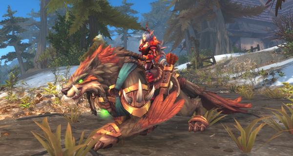 Loup-faucon loyal de maître chasseur - Monture World of Warcraft