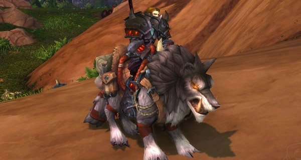 Loup redoutable anthracite - Monture World of Warcraft