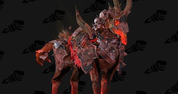 Destrier du courroux sulfureux de seigneur du Néant - Monture World of Warcraft
