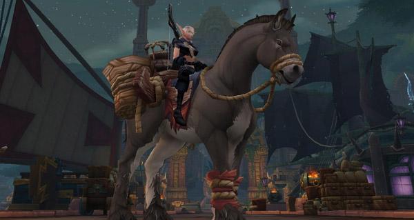 Rênes mâchonnées de la mule de bât terrifiée monture WoW Battle for Azeroth