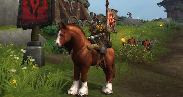 Mustang des hautes-terres dressé monture WoW Battle for Azeroth