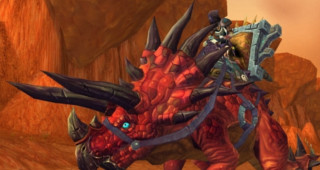 Rênes de navrecorne primordial cramoisi - Monture World of Warcraft