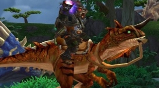 Rênes de raptor primordial rouge - Monture World of Warcraft
