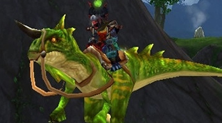 Rênes de Raptor primordial vert - Monture World of Warcraft