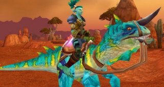 Sifflet de raptor turquoise - Monture World of Warcraft