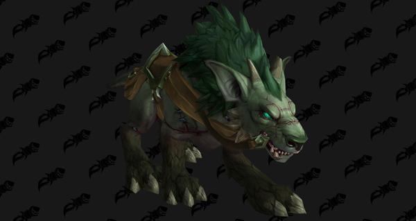 Rênes de chien de guerre lié par le combat - Monture World of Warcraft