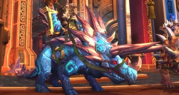 Rênes de navrecorne primordial cobalt - Monture World of Warcraft