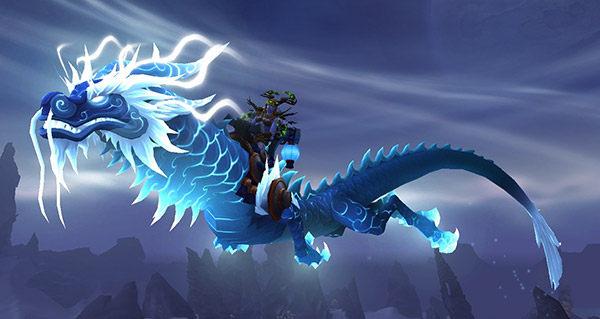 Rênes de serpent-nuage céleste azur - Monture World of Warcraft