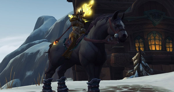 Rênes du destrier anthracite - Monture World of Warcraft