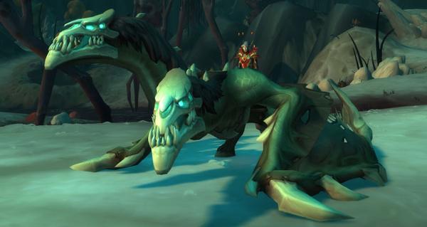 Rênes mâchonnées de l'aile-écorchée malhabile - Monture World of Warcraft