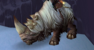 Rhinocéros laineux blanc - Monture World of Warcraft