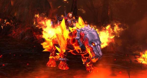 Sabre de feu primordial - Monture World of Warcraft
