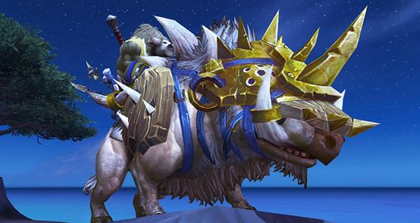 Sanglier de guerre des plaines givrées - Monture World of Warcraft