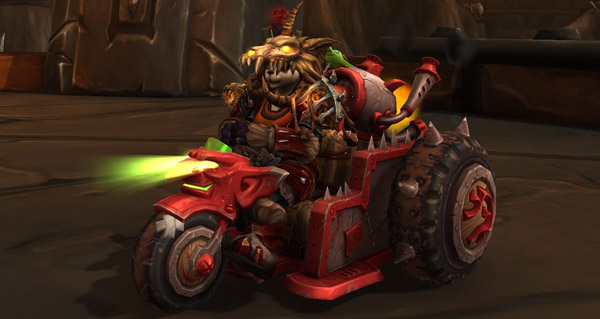 Triklomoteur de guerre vicieux - Monture World of Warcraft