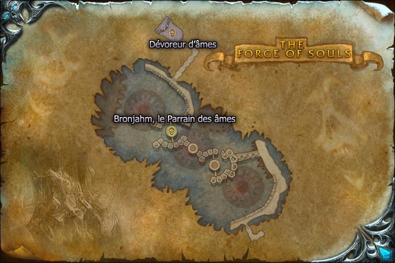 Carte de la Forge des âmes