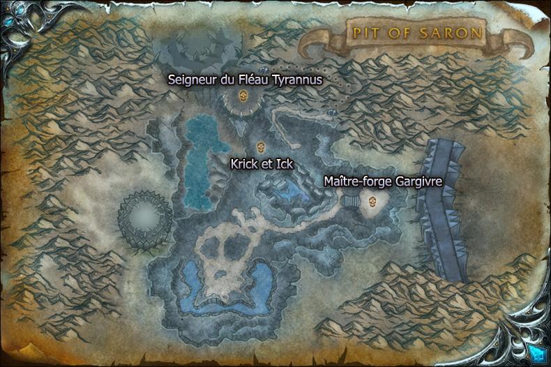 Carte de la Fosse de Saron