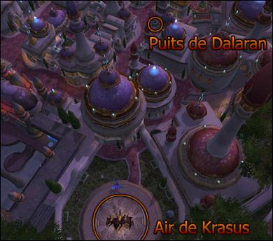 Vue aérienne de Dalaran