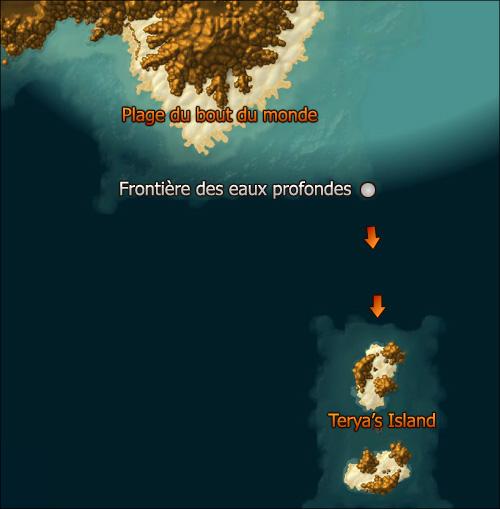 Comment accéder à Terya's Island