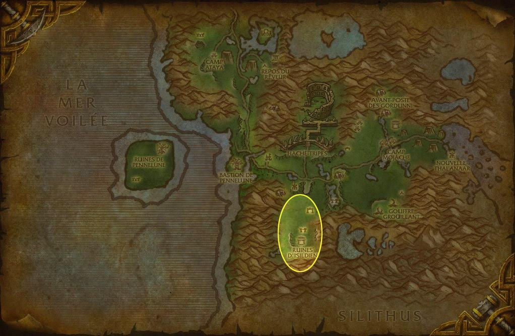 Rendez vous à Féralas dans la zone des Ruines d'Isildien