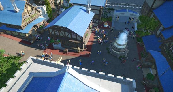 la capitale hurlevent recreee par un joueur dans planet coaster