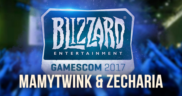 mamytwink et zecharia a la gamescom 2017