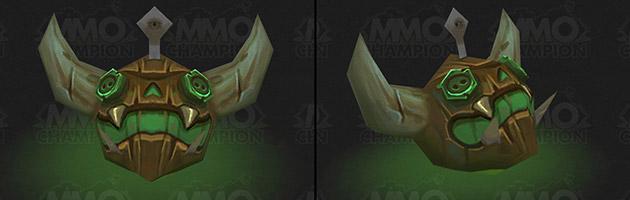 La tête de démon permet de remplacer le flotteur habituel par une tête de chasseur de démons en bois