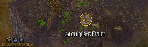 L'alchimiste Funen se trouve à proximité de la balise sancteforge du taudis Krokul