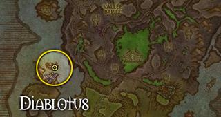 Diablotus se trouve à l'ouest du rivage Brisé