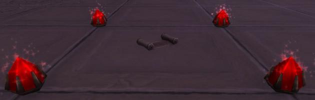 Un parchemin apparait sur le sol après avoir reconstitué le puzzle