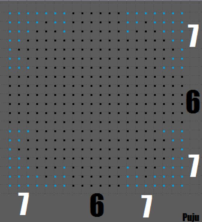 Reproduisez le dessin en cliquant sur les lumières de la Ferraillerie
