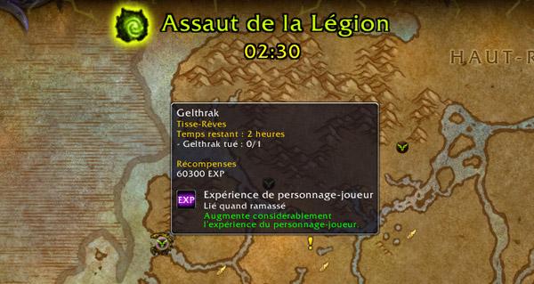 assauts de la legion : expeditions realisables des le niveau 100