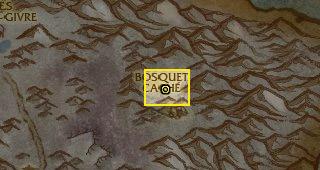 Déplacez-vous jusqu'au Bosquet Caché