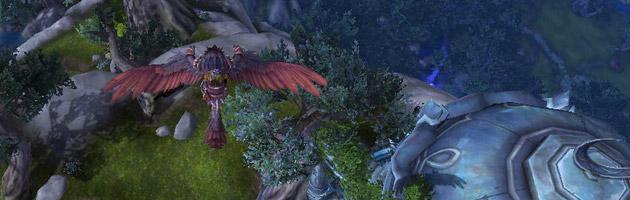 Hauteur idéale pour découvrir Bec-du-Néant l'hippogriffe à Azsuna