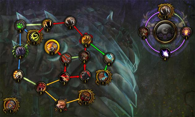 Les chemins conseillés pour améliorer l'arme prodigieuse du Druide Gardien