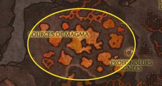 Dirigez-vous vers les Sources de magma
