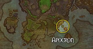 Apocron se trouve à l'est de la côte de l'Angoisse