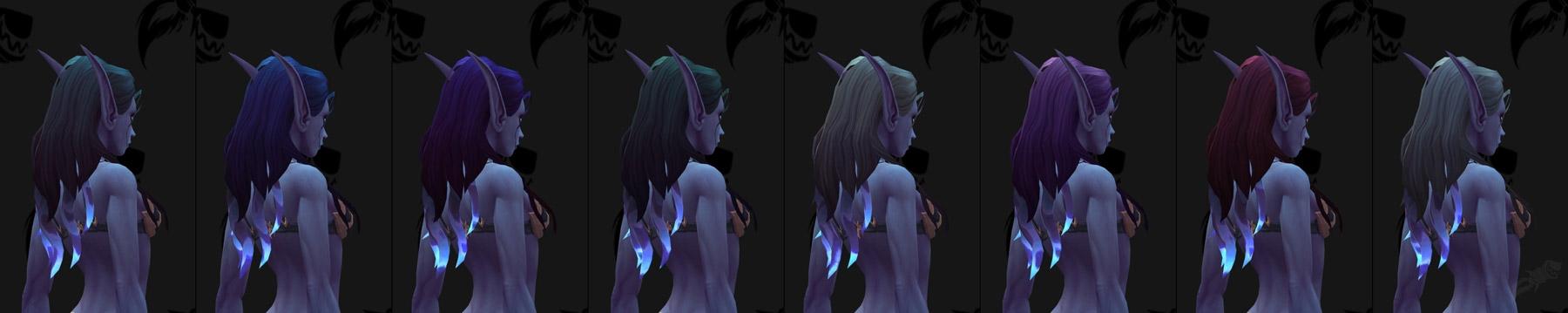 Couleurs de cheveux des Elfes du Vide (Femme)