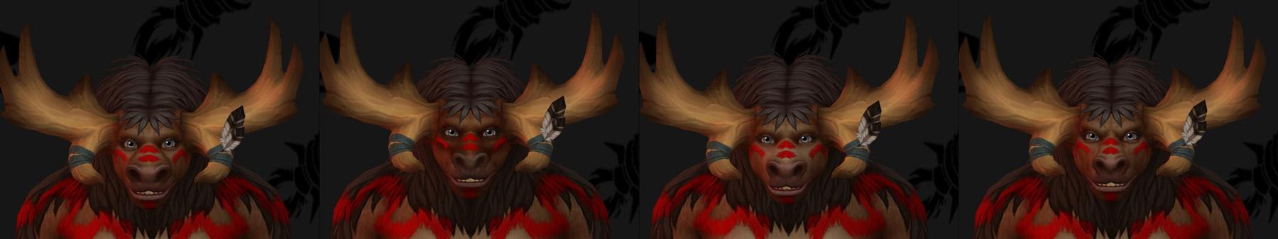 Personnalisation du visage des Taurens de Haut-Roc (Femme)