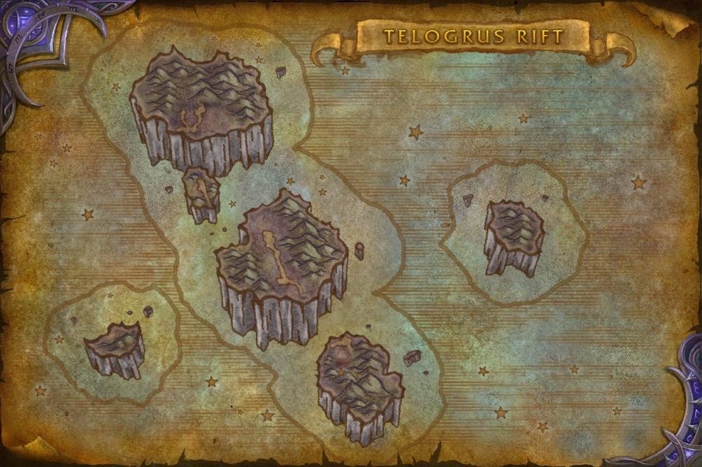 Carte de la Faille de Telogrus sur les royaumes de test