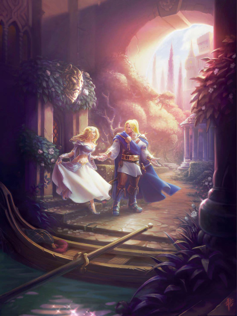 Arthas en compagnie de Jaina - Warcraft chronique volume 3