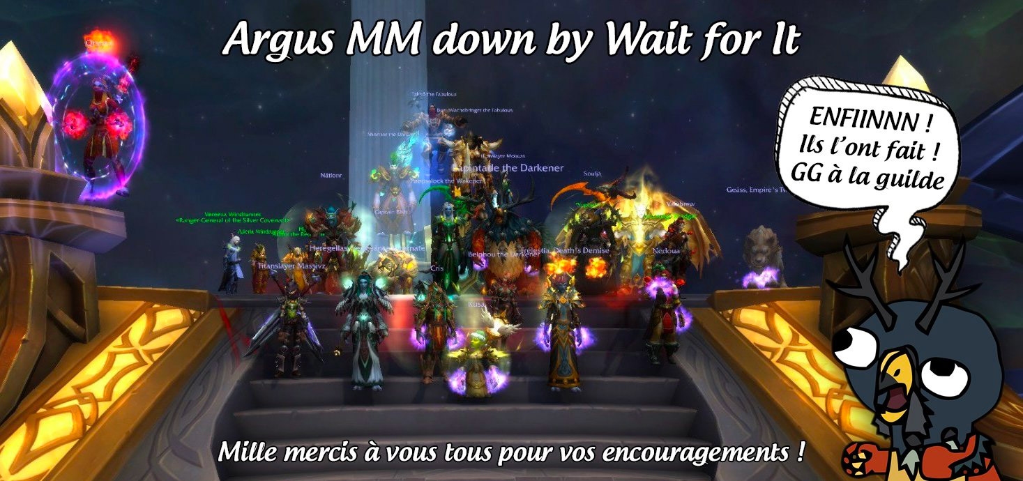 La guilde FR Wait for it termine le raid Antorus, le Trône ardent en mode mythique