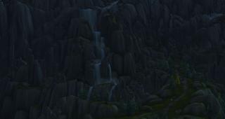 Les falaises menant à Haut-Roc