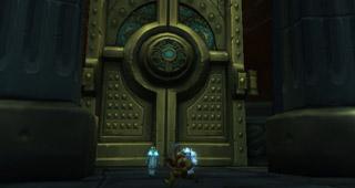 Une porte immence bloque l'accès au caveau