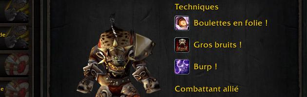 Le champion Boulette possède ses propres techniques pour les missions
