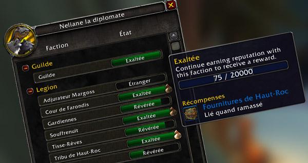 patch 7.2 : reputation paragon aupres des factions des iles brisees