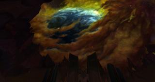 Le ciel vu d'Antorus le Trône ardent
