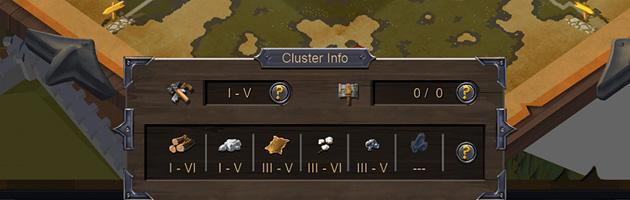 Les ressources disponibles dans une région sont indiquées sur la carte