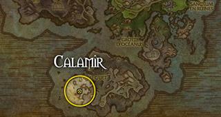 Calamir se trouve à l'ouest de l'île du Guet